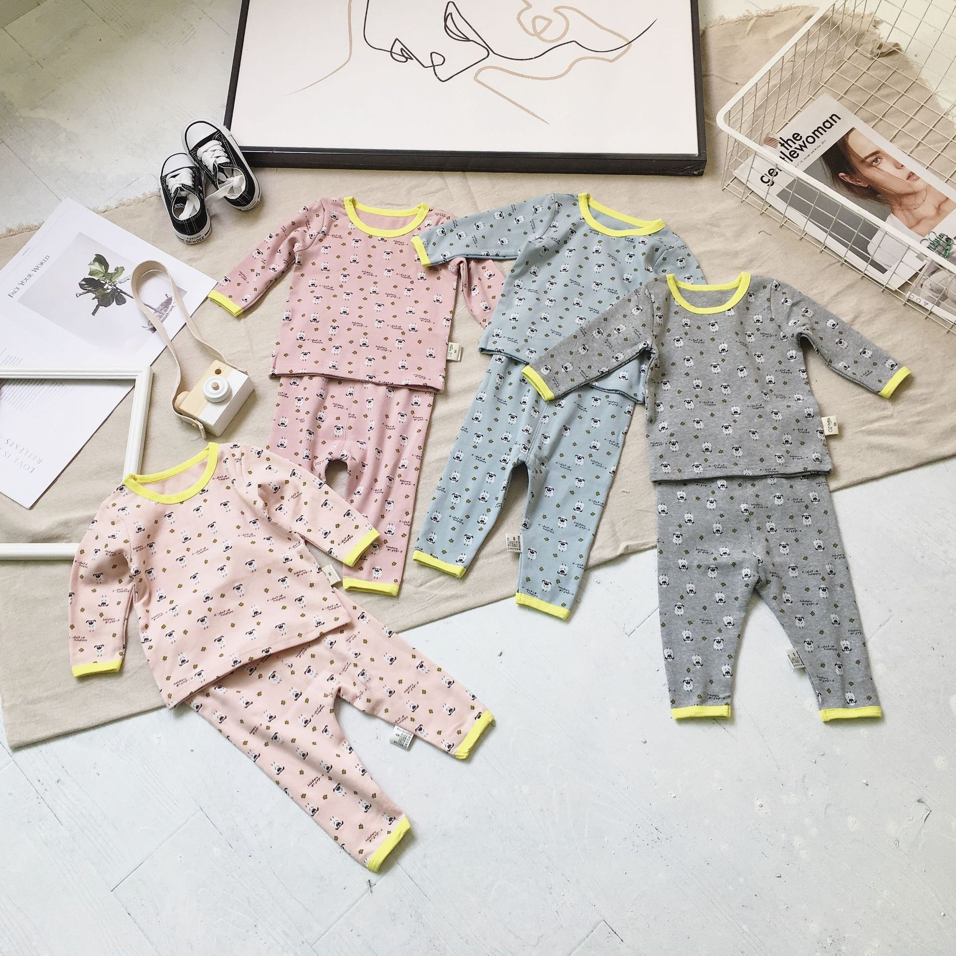 2019 Spring And Autumn New Style Infants Underwear Suit 1-3 Years Old Baby Tracksuit Baby Pajamas Boutique Class A