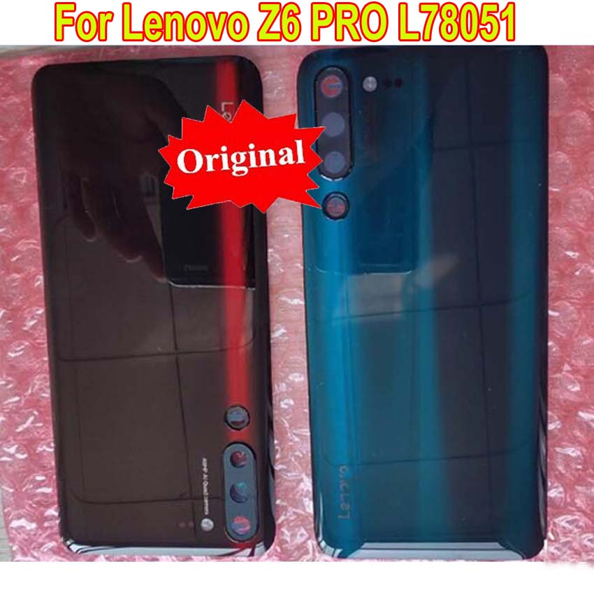 Original Best Glass Battery Back Cover with Camera Frame Rear Door Housing Case For Lenovo Z6 PRO L78051 with adhesive No Lens
