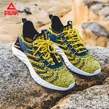PEAK TAICHI Men Running Shoes Yellow LightWeight Sneaker Breathable Fashion Sports Youth Street ALL IN Series