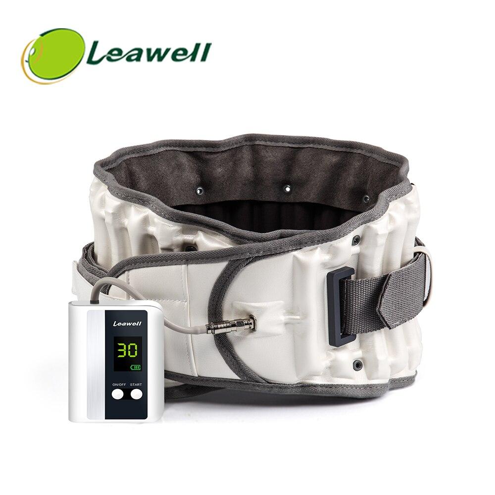Cinturón de descompresión Leawell para alivio del dolor Lumbar y soporte Lumbar para prevenir escoliosis y espondilolistesis