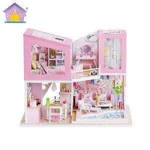 Hoomeda-Diy Mini Casa Creative