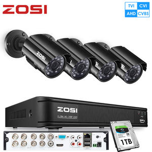 ZOSI Surveillance-Dvr-Kit Video-Camera Cctv-System Nightvision Outdoor 720P 8CH AHD 4-In-1