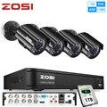ZOSI 720P 8CH 4-в-1 CVBS AHD TVI CVI система видеонаблюдения наружная камера ночного видения система безопасности DVR комплект