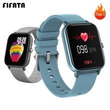 فيفاتا ساعة ذكية الرجال النساء الرياضة سوار لياقة بدنية معدل ضربات القلب ضغط الدم/الأكسجين الساعات الذكية PK Amazfit GTS W68 P70 B57