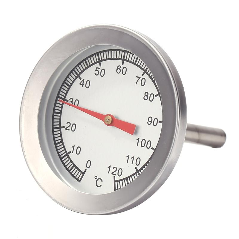0-120Celsius Stainless Steel Barbecue BBQ Smoker Grill Thermometer Temperature Gauge Oven Thermometer