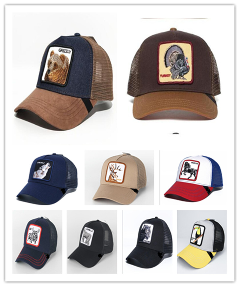 2019 New  Summer Trucker Cap Mesh Snapback Hip Hop Hats For Men Embroidery Baseball Cap GRIZZLY BROWN TRUCKER