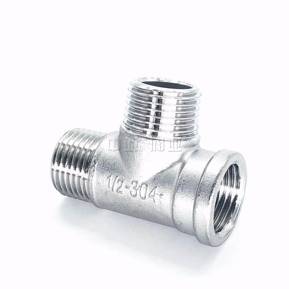 Male+male+Female Threaded 3 Way Tee T Pipe Fitting 1/2
