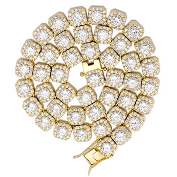 """10MM Quality Prong Set Big Size Solitaire Tennis Chain Necklace Mens Iced Out Bling CZ Charm Hip Hop Fashion Jewelry 18"""" 22"""" 1"""