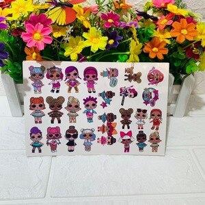 16 pièces LOL surprise poupées original tatouage autocollant sécurité aléatoire action figure surprise dessin animé fille noël lol cadeau d'anniversaire 2