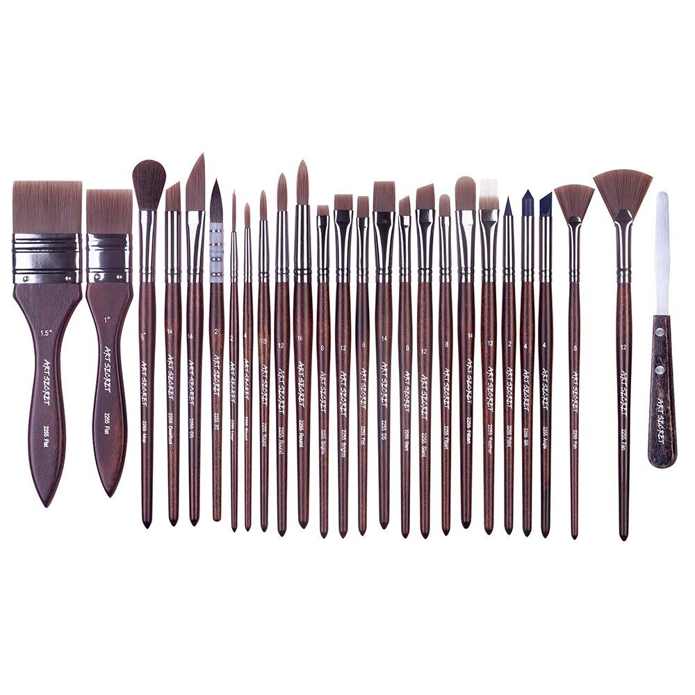 2255 26 pc set aquarela acrilico e oleo multifuncional livre estilo conjunto de escova de arte