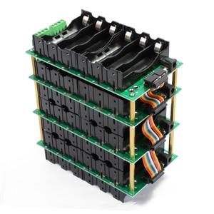 Image 1 - 18650 support de batterie 24V 18650 puissance mur 6S batterie Pack équilibreur conseil 6s 40A BMS PCB batterie boîtier Kit de bricolage Ebike batterie