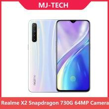 Realme X2 6G 64G Snapdragon 730G 64MP Kamera 6.4 ''Full Screen NFC OPPO Handy VOOC 30W Schnelle Ladegerät Moblie Telefon