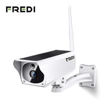FREDI 1080P Solar Charging Wireless IP Camera WiFi Waterproof Security Bullet Surveillance IR Night Vision CCTV