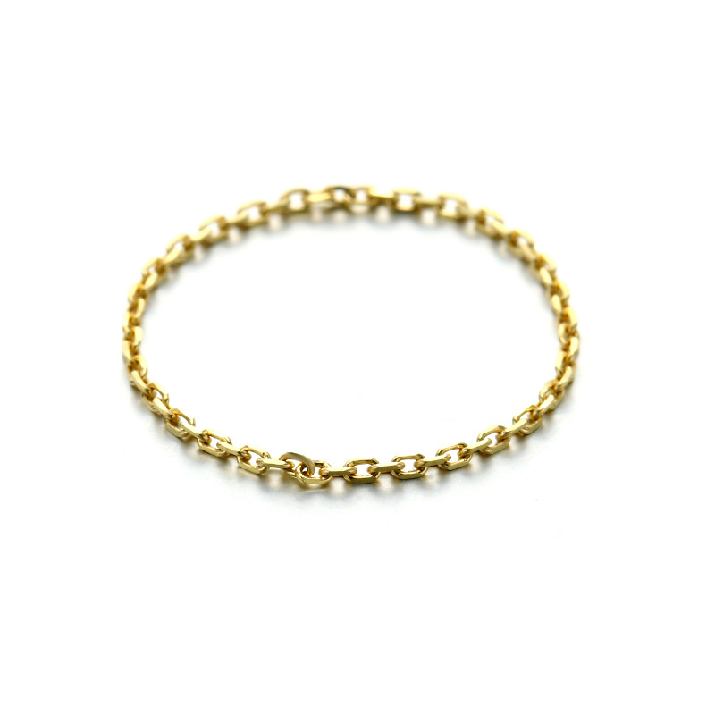 Trendy 9K Real True Yellow Solid Genuine Gold Chain Link Rings Bands For Women Girl Lady Fancy Upscale Fine Office Jewelry Gift
