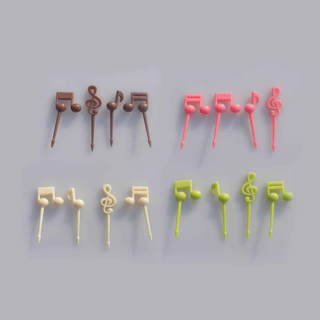 Kartun Buah Garpu Set Twisted Pesta Prasmanan Makanan Penutup Makanan Koktail Sandwich Tongkat untuk Dekorasi Pesta Rumah Buah Pick Tusuk Gigi