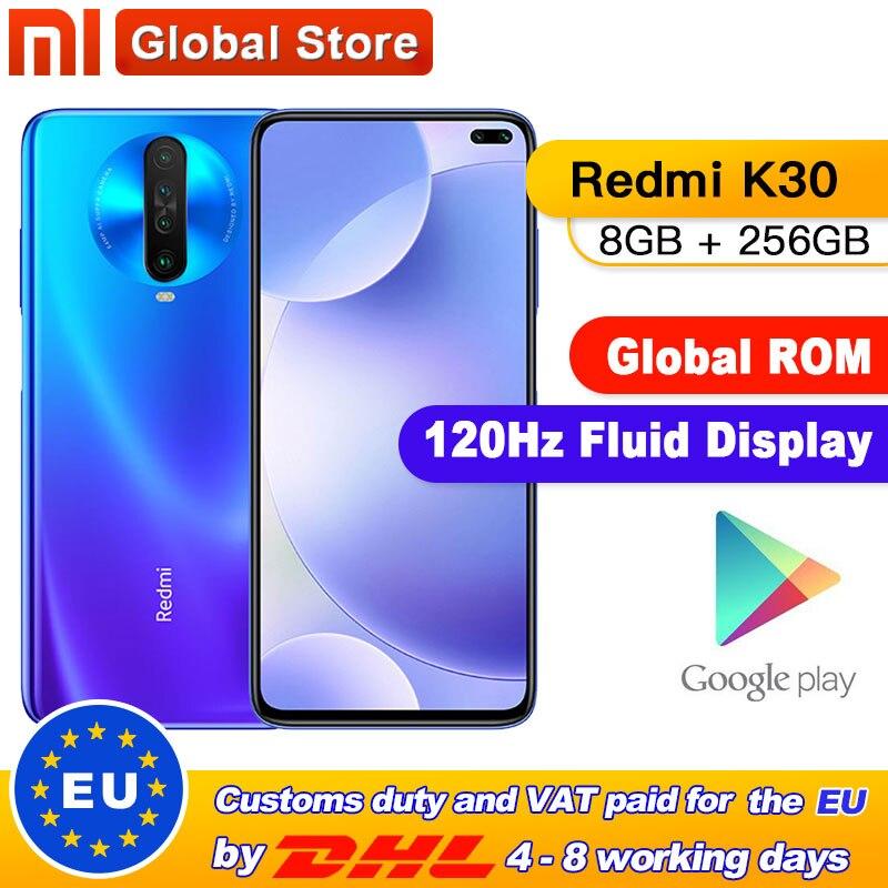 Global ROM Xiaomi Redmi K30 8GB 256GB 4G Smartphone Snapdragon 730G Octa Core 64MP Camera 120HZ Fluid Display 4500mAh