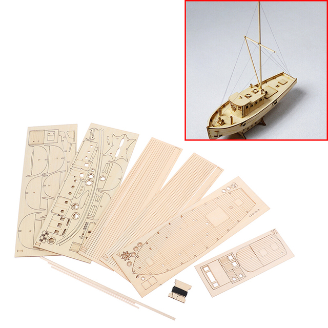 1/30 Nurkse Assembly Wooden Sailboat DIY Wooden Kit Puzzle Toy Sailing Model Ship Gift for Children and Adult 2