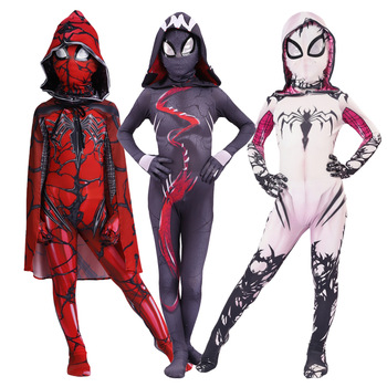 3D Print Spider Gwen Stacy Spandex Lycra Zentai Costume for Halloween Cosplay Female Spider Suit for  Kids Costumes amazing spider 3d printing miles morales cosplay costume zentai spider pattern bodysuit jumpsuits halloween costume for adults