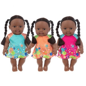 35cm black baby dolls pop green African! reborn silicone viny 35cm newborn poupee boneca baby soft toy girl kid todder