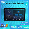 2din Android 10 Auto Radio Für Universal 6GB + 128GB Auto DVD Player GPS RDS Wifi 4G radio Für Universal Autoradio 2Din DVD Player