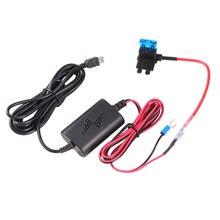 Автомобильный видеорегистратор, адаптер для зарядного устройства, комплект с жестким проводом, мини-usb ABS, 12 В до 5 В, устройство для записи вождения, usb-кабель для защиты от перезарядки