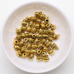(50 Pcs / Lot!)  Free Shipping European Charm Spacer 3 Holes Pendant Connector Beads Alloy Antique Gold Plt for Bracelet Making