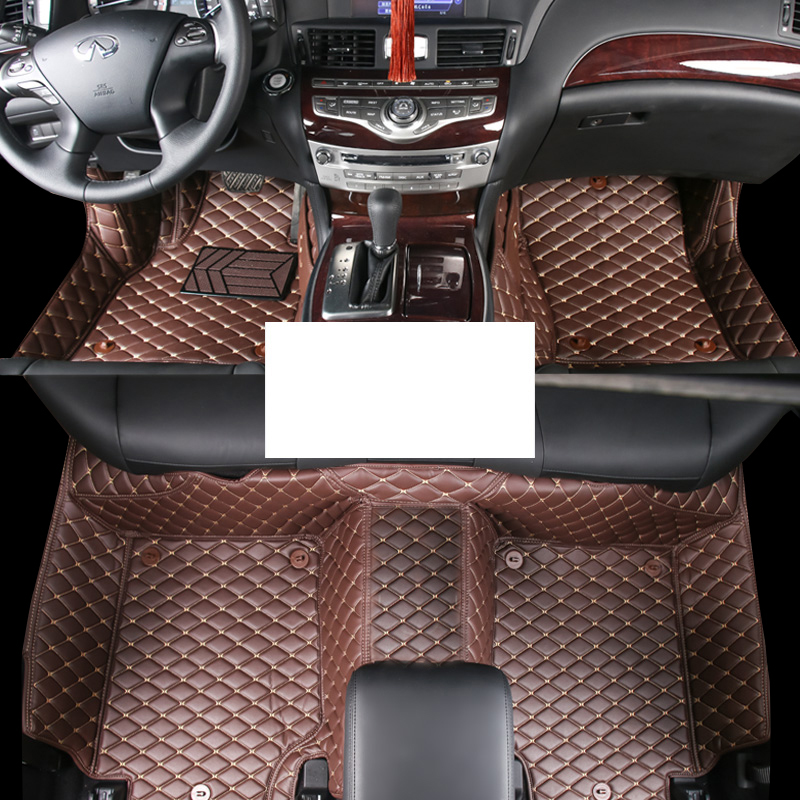 lsrtw2017 leather car floor mats for <font><b>infiniti</b></font> <font><b>q70</b></font> fuga m-series 2011 2019 2018 2017 2016 2015 <font><b>2014</b></font> 2013 2012 auto accessories image