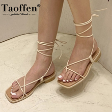Taoffen Cross Strap Clip Toe Sandals Female Ins Tide Summer 2020 New Style