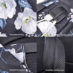 Image 5 - OKKID sacs décole pour filles rose noir fleur sac à dos enfants sac décole ensemble enfants impression florale école sac à dos enfant cadeau