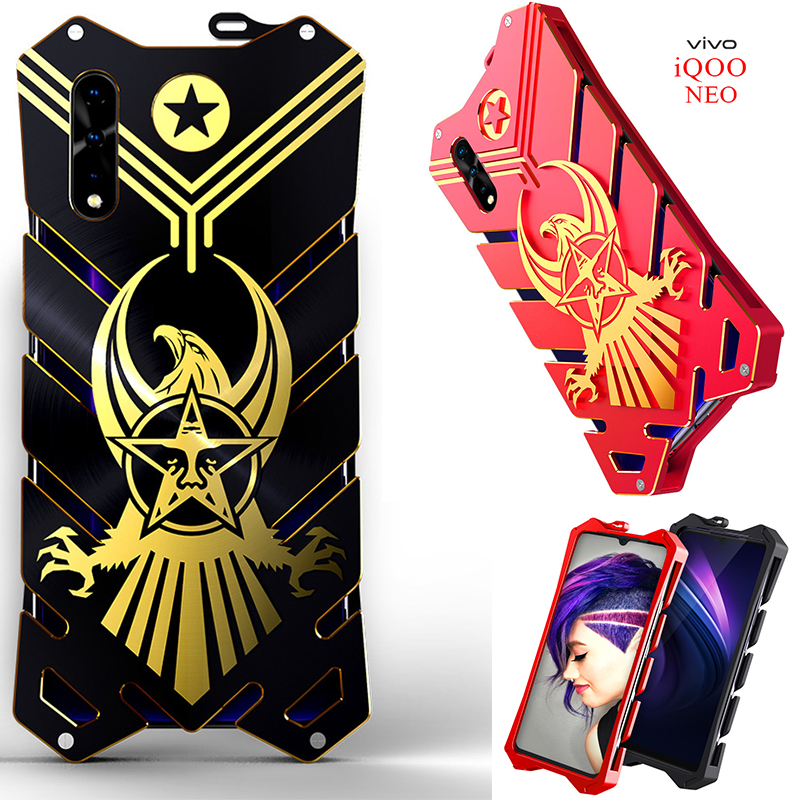 Zimon Luxury New Thor Heavy Duty Armor Metal Aluminum Phone Case For Vivo Iqoo Neo V17 Neo Z5 Y7s S1 Helio P65 Back Case