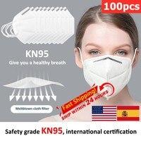 KN95 maske FDA/CE schutz maske staubdicht anti nebel filterable bakterien maske schutz PM 2 5 Schutz Maske In lager-in Bezüge für Bekleidung aus Heim und Garten bei