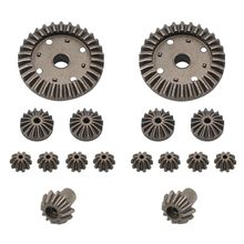 Upgrade Metal Gear 30T 24T 12T Differential Driving Gears 0011/0012/0013/0014 for Wltoys 12428 12429 RC Car Spare Parts R7RB