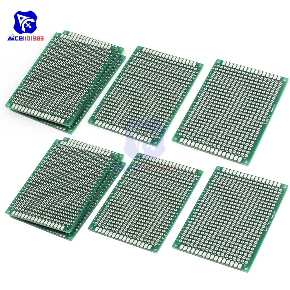 10x PCB Panel Prototype Double Side Universal Printing Circuit Board 5x7cm