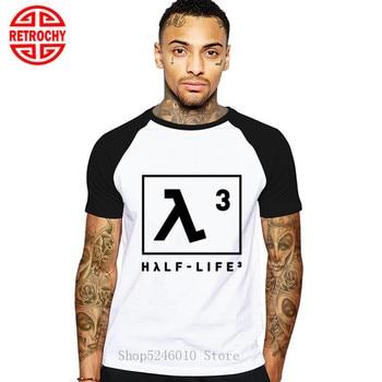 Media vida 3 Lambda videojuego camiseta más nueva media vida símbolo Camisetas básicas 5XL hombres de manga corta Camiseta negro Hipster camiseta