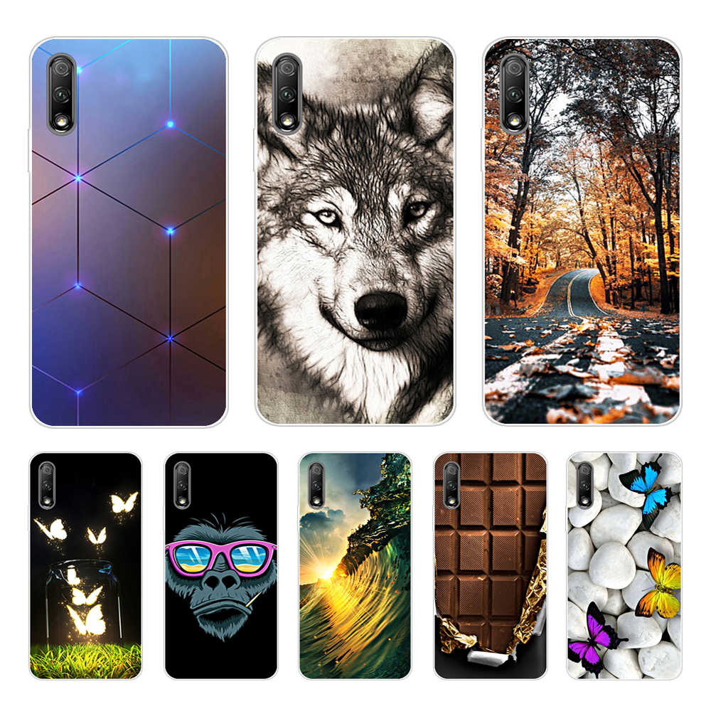Phone Cases For Huawei Honor 9x pro Silicone Back Cover Soft TPU Funda For Huawei Honor9x Case Cute Cartoon Painted Skin Coque