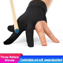 5pcs/lot Three Finger Snooker Glove Smooth Billiard Gloves Left Right Hand Billar Pool Cue Biliardo Billard Accessories