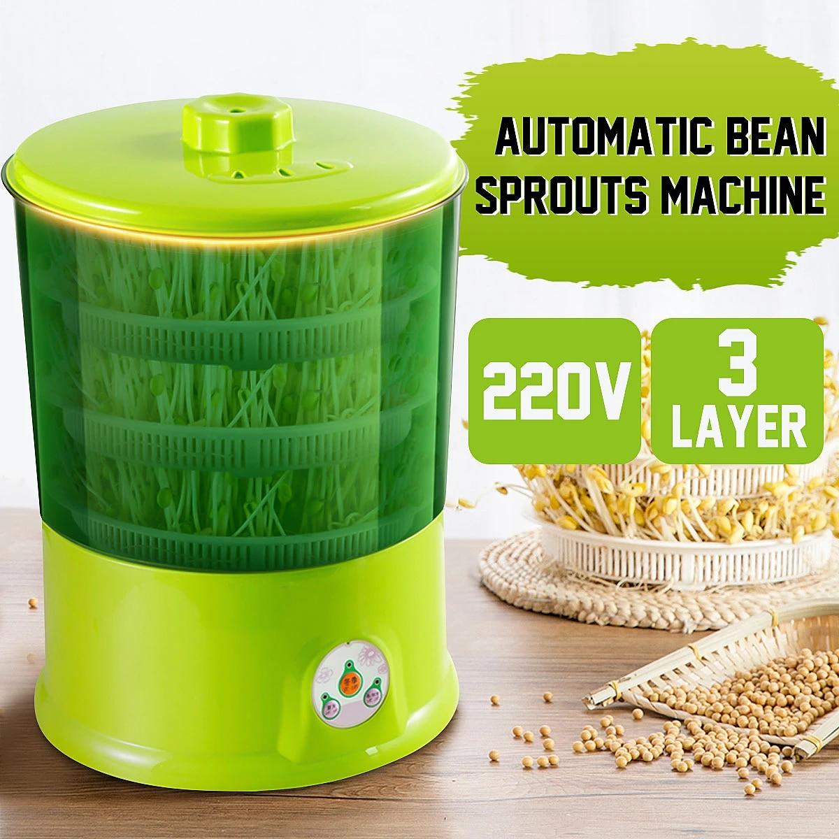 220 л, 2/3 в, машина для выращивания фасоли, автоматическая машина для выращивания фасоли, многофункциональная интеллектуальная машина для домашнего ростка с уровнями