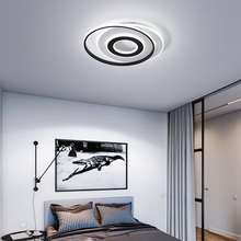 Round Modern Chandelier Lighting Black and White lustre chandeliers ledLamp for Living Bedroom Kitchen led ceiling Chandelier