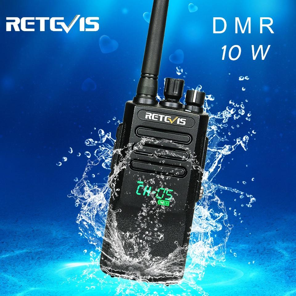 Retevis RT50 10W Walkie Talkie Digital DMR Radio IP67 Waterproof UHF 400-470 Mhz Dual Time Digital/Analogue Radio