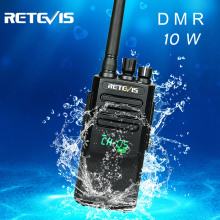 Retevis RT50 10W Walkie Talkie Digital DMR Radio IP67 Waterproof UHF 400-470 Mhz Dual Time Digital/Analogue Radio