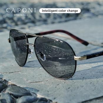 цена на CAPONI Pilot Polarized Sun Glasses For Men Photochromic Driving Men Sunglasses 2020 New Designer Gafas de sol Masculino BS8725