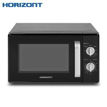 Horizont Микроволновая печь 20MW700-1478AAB объемом 20 литров с режимом работы «Гриль» и механическим типом управления