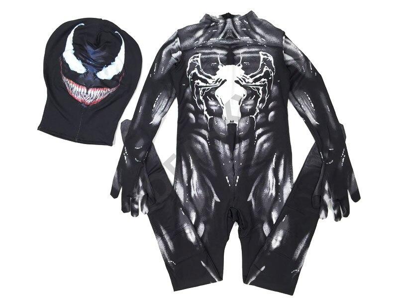 Image 4 - Новый симбиан «Человек паук» костюм Venom Детский Комплект Комбинезон Маска для мальчиков на новый год Косплэй взрослых мужских костюмов героя супергероев