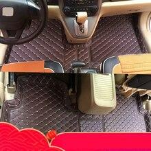 цена на lsrtw2017 leather car styling floor mats for honda crv cr-v 2007 2008 2009 2010 2011 2012 interior accessories covers saloon