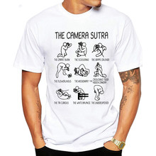 Short Sleeve Tee Tops Creative Art Design Photographic Camera T Shirt