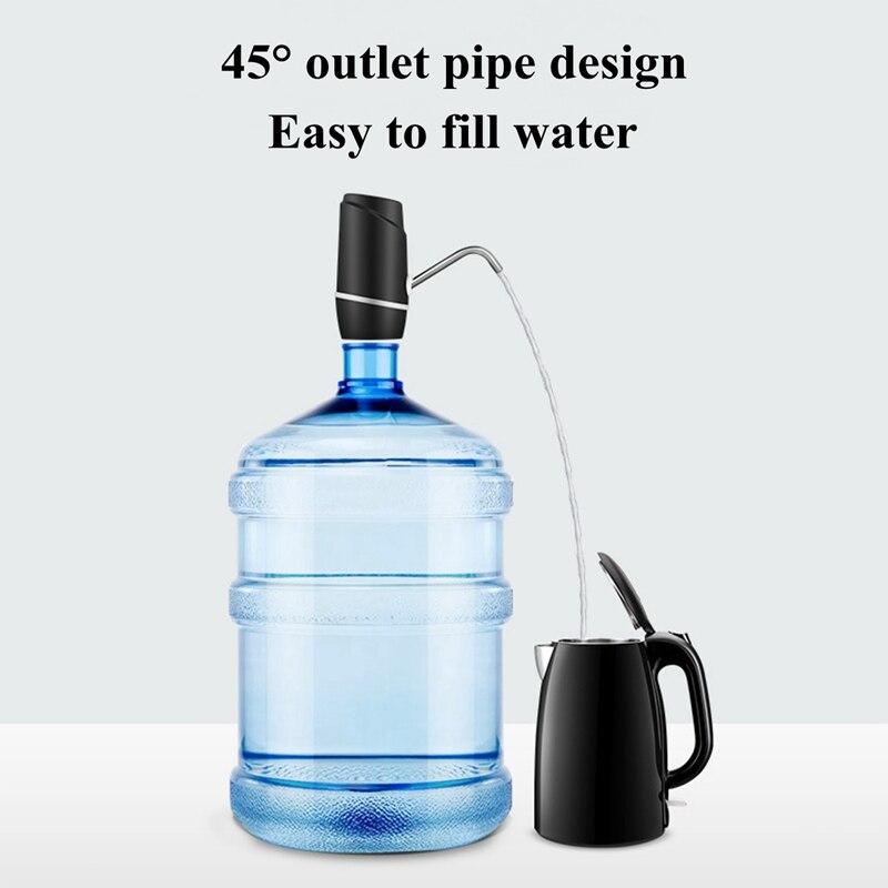 مضخة مياه زجاجة ، USB شحن التلقائي موزع مياه المحمولة المدمجة الكهربائية مضخة مياه الشرب يناسب 5 جالون Univer