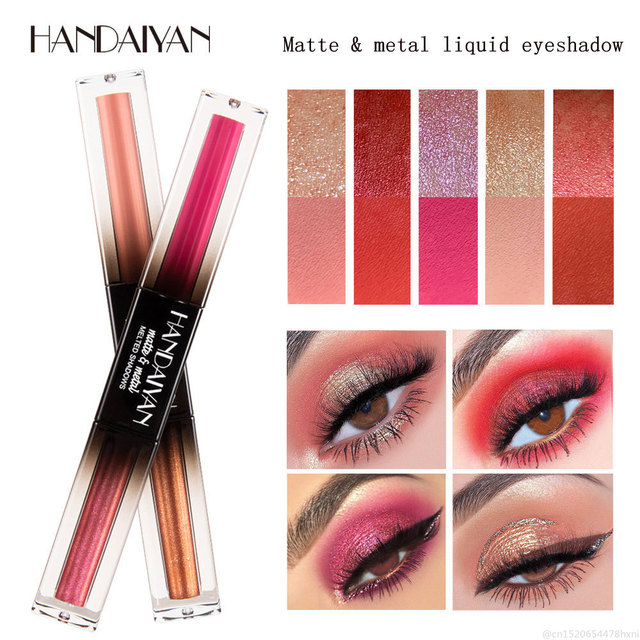HANDAIYAN 3 In 1 Pen for Eyeshadow EyeLiner Lipgloss Liquid Glitter Matte Metal Waterproof Lasting Lip Eye Cosmetic Makeup TSLM1 4