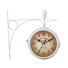 Классические настенные часы в европейском стиле, двусторонний винтажный Ретро Декор для дома и офиса