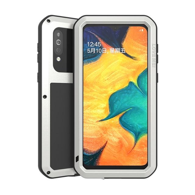 Металлическая броня для Samsung Galaxy A41 A20 A30 A30S A40S брызгозащищенный пыленепроницаемый ударопрочный Прочный чехол с полным покрытием для занятий спортом на открытом воздухе чехол для телефона
