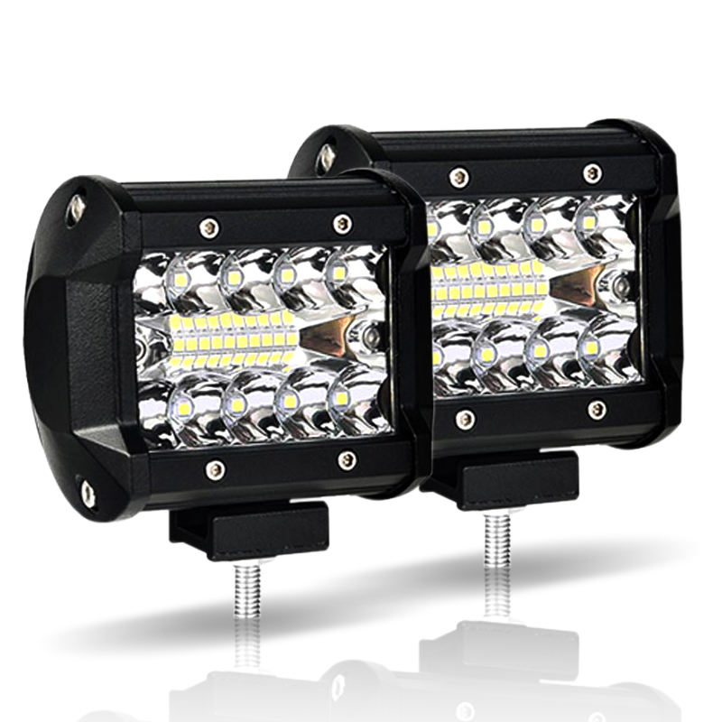 Work Light 60W Led Light Bar 12V 4x4 Accessories Off Road Led Beams for Tractor Auto Moto 4inch spotlight Flood lightbar Lamp
